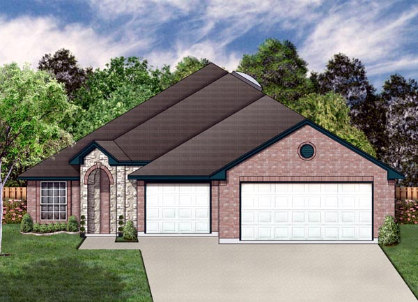 Traditional House Plan 87955 with 4 Beds, 3 Baths, 3 Car Garage Elevation