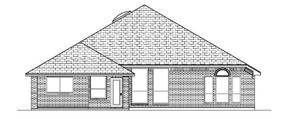 Traditional House Plan 87955 with 4 Beds, 3 Baths, 3 Car Garage Rear Elevation