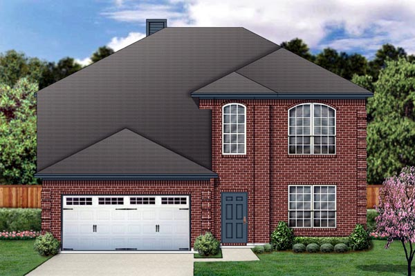 Traditional House Plan 87962 with 5 Beds, 3 Baths, 2 Car Garage Elevation