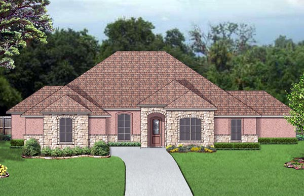 European, Mediterranean, Traditional House Plan 87995 with 5 Beds, 3 Baths, 3 Car Garage Elevation