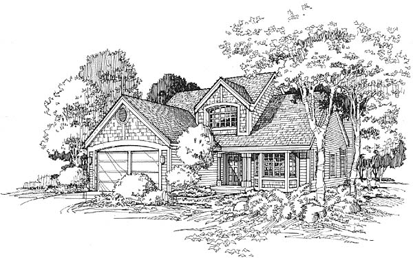 Country, Traditional House Plan 88154 with 3 Beds, 3 Baths, 2 Car Garage Picture 3