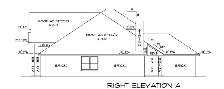 Traditional House Plan 88632 with 4 Beds, 3 Baths, 2 Car Garage Picture 2
