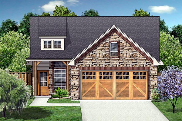 Craftsman, Farmhouse House Plan 88634 with 3 Beds, 2 Baths, 2 Car Garage Elevation