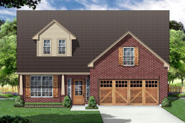 Country House Plan 88674 with 3 Beds, 2 Baths, 2 Car Garage Front Elevation
