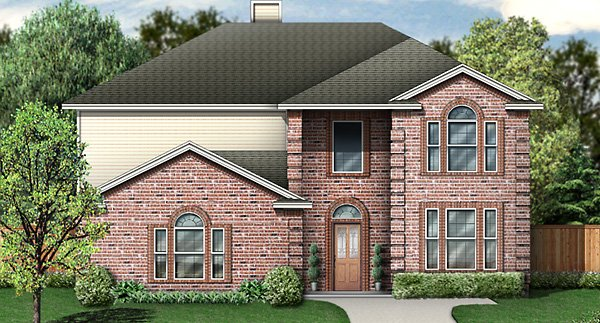 European House Plan 89830 with 5 Beds, 4 Baths, 2 Car Garage Elevation