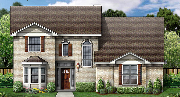 European House Plan 89832 with 5 Beds, 4 Baths, 2 Car Garage Elevation
