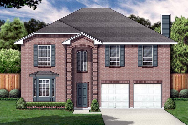 Traditional House Plan 89895 with 4 Beds, 3 Baths, 2 Car Garage Elevation