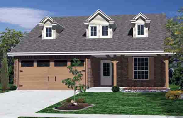 Country, Farmhouse House Plan 89900 with 3 Beds, 2 Baths, 2 Car Garage Elevation