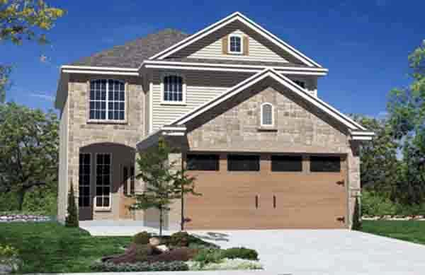 Traditional House Plan 89903 with 4 Beds, 3 Baths, 2 Car Garage Elevation