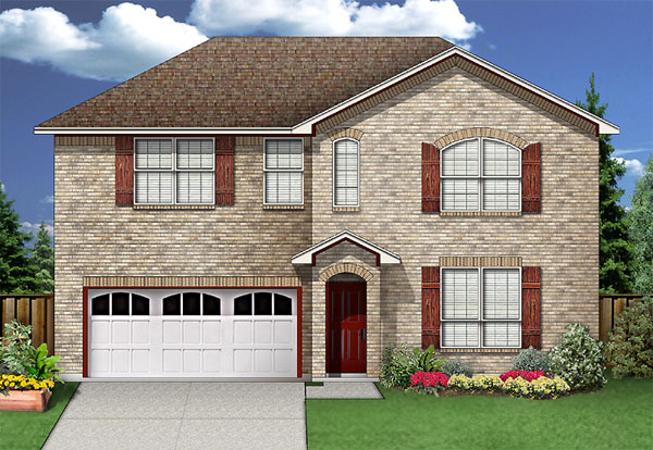 Traditional House Plan 89925 with 3 Beds, 3 Baths, 2 Car Garage Elevation