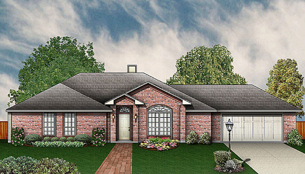 Traditional House Plan 89928 with 3 Beds, 3 Baths, 2 Car Garage Elevation