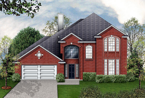 European House Plan 89950 with 4 Beds, 3 Baths, 2 Car Garage Elevation