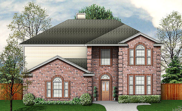 Traditional House Plan 89952 with 4 Beds, 3 Baths, 2 Car Garage Elevation