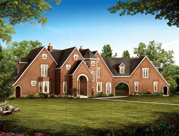 European, Traditional House Plan 90266 with 5 Beds, 5 Baths, 2 Car Garage Elevation
