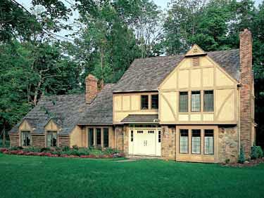 European, Tudor House Plan 90295 with 4 Beds, 4 Baths Elevation