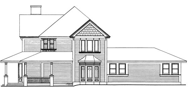 Country, Farmhouse, Victorian House Plan 90331 with 4 Beds, 3 Baths, 2 Car Garage Picture 2