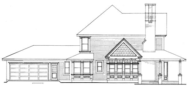 Country, Farmhouse, Victorian House Plan 90331 with 4 Beds, 3 Baths, 2 Car Garage Picture 3