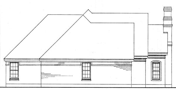 European, One-Story, Traditional House Plan 90361 with 3 Beds, 2 Baths, 2 Car Garage Picture 3
