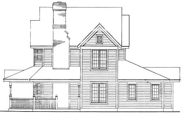 Country, Farmhouse, Narrow Lot House Plan 90388 with 3 Beds, 3 Baths, 2 Car Garage Picture 1