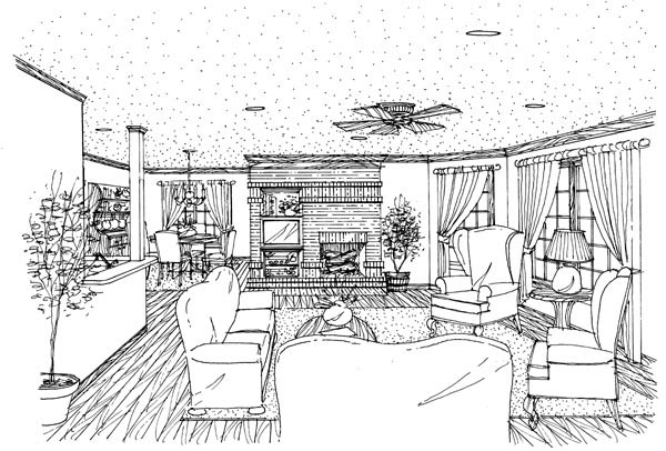 Country, Farmhouse, Narrow Lot House Plan 90388 with 3 Beds, 3 Baths, 2 Car Garage Picture 3