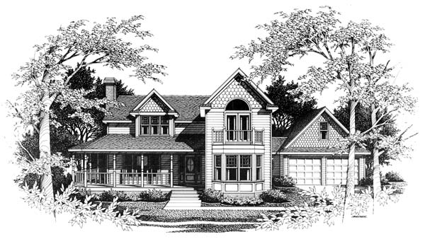 Country, Craftsman, Farmhouse House Plan 90452 with 4 Beds, 4 Baths, 2 Car Garage Elevation