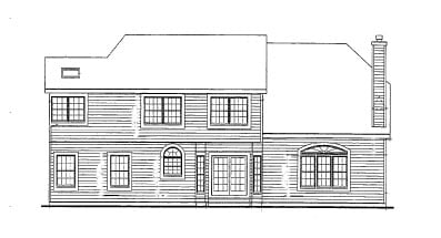 Country, Farmhouse, Victorian House Plan 90647 with 4 Beds, 3 Baths, 2 Car Garage Rear Elevation