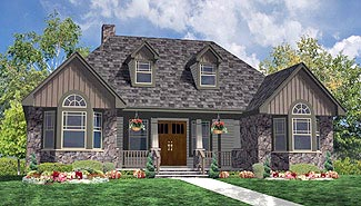 Country, Farmhouse, Ranch, Southern House Plan 90655 with 3 Beds, 2 Baths, 1 Car Garage Front Elevation