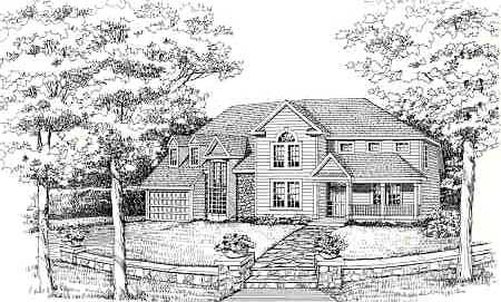 Country, Craftsman, Farmhouse House Plan 90666 with 4 Beds, 3 Baths, 2 Car Garage Picture 2