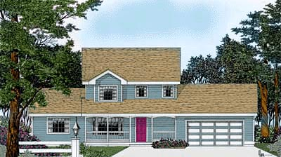 Country House Plan 90747 with 4 Beds, 3 Baths, 2 Car Garage Elevation