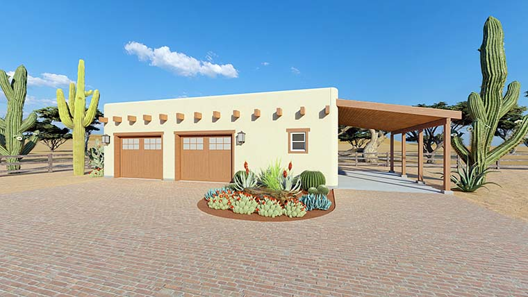 Southwest 2 Car Garage Plan 90821 Picture 5