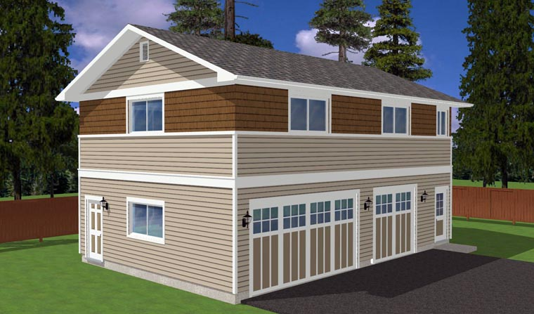 3 Car Garage Plan 90881 Picture 3