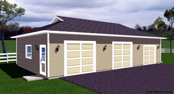 3 Car Garage Plan 90886 Front Elevation