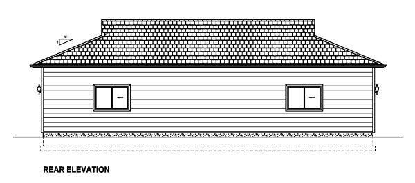 3 Car Garage Plan 90886 Rear Elevation