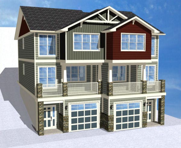 Multi-Family Plan 90887 with 8 Beds, 8 Baths, 2 Car Garage Picture 1
