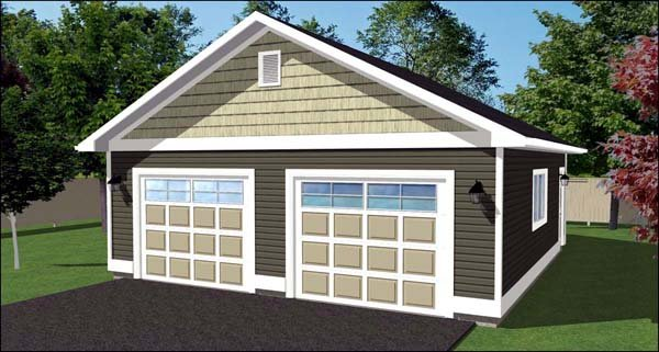 2 Car Garage Plan 90896 Elevation