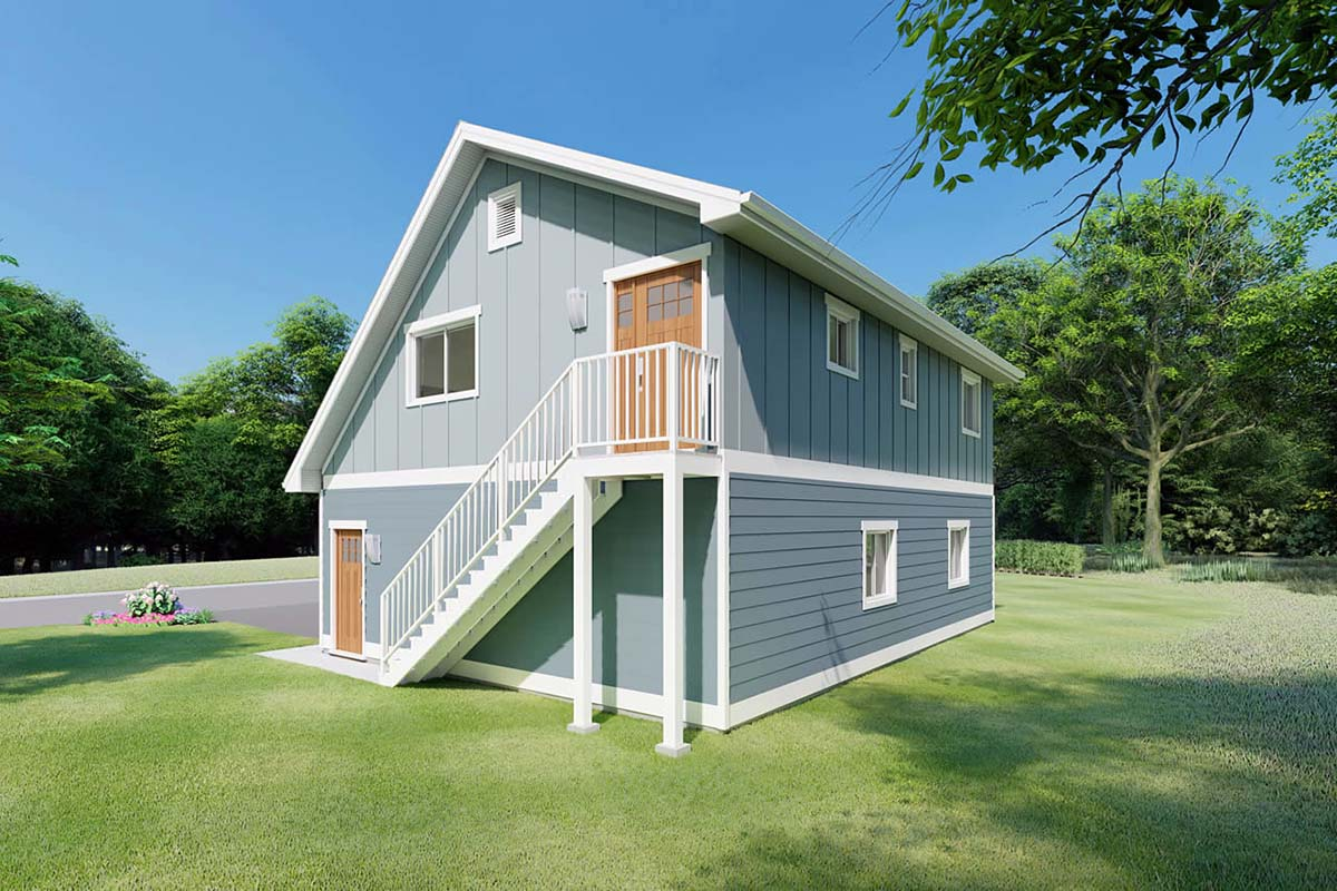 3 Car Garage Apartment Plan 90941 with 2 Beds, 1 Baths Picture 1