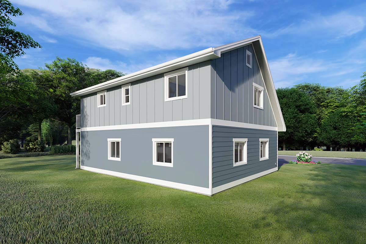 3 Car Garage Apartment Plan 90941 with 2 Beds, 1 Baths Picture 2