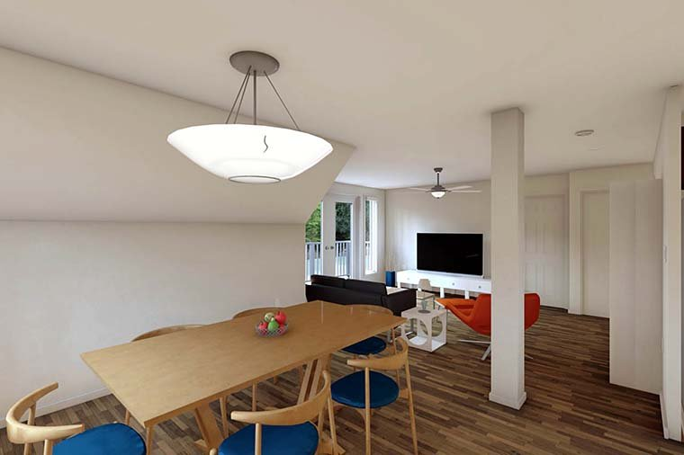 3 Car Garage Apartment Plan 90941 with 2 Beds, 1 Baths Picture 5