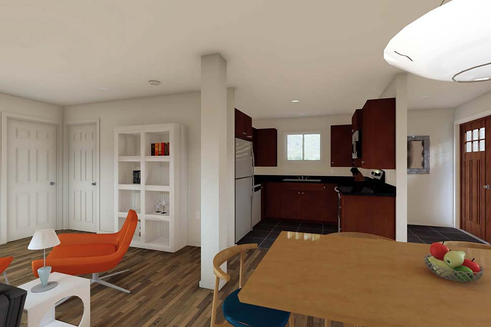 3 Car Garage Apartment Plan 90941 with 2 Beds, 1 Baths Picture 6