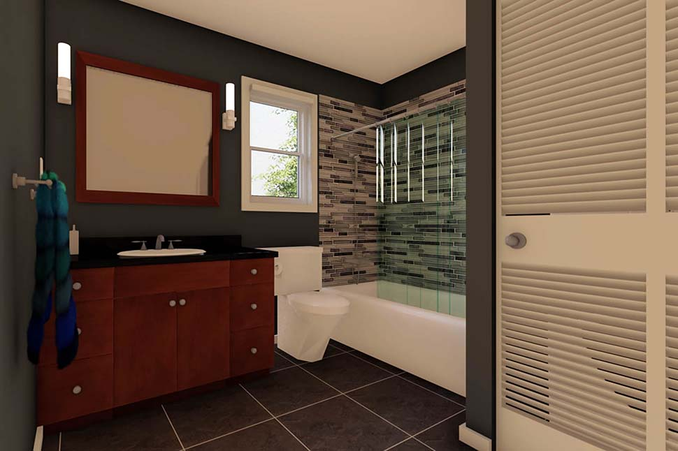 3 Car Garage Apartment Plan 90941 with 2 Beds, 1 Baths Picture 8