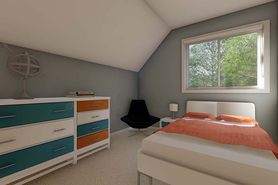 3 Car Garage Apartment Plan 90941 with 2 Beds, 1 Baths Picture 9
