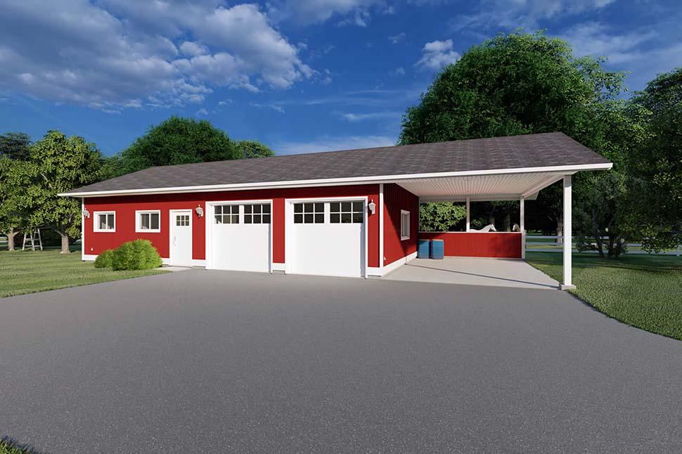 3 Car Garage Plan 90993 Picture 1