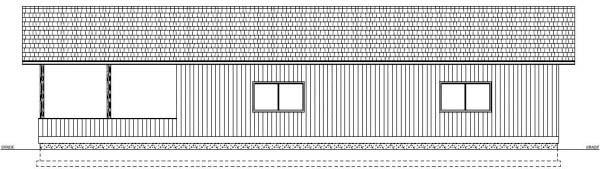 3 Car Garage Plan 90993 Rear Elevation