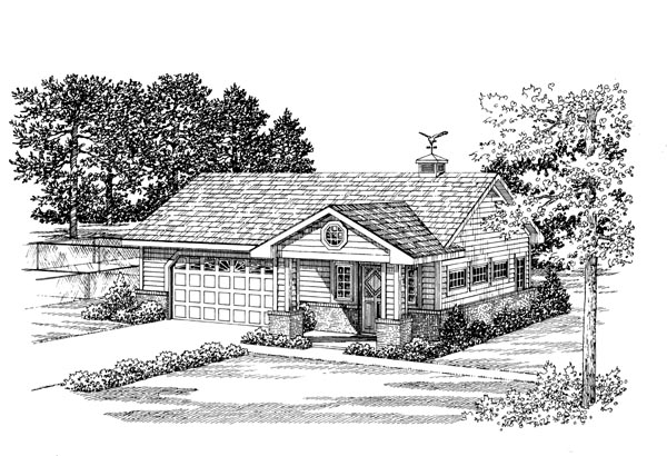 2 Car Garage Apartment Plan 91248 Front Elevation