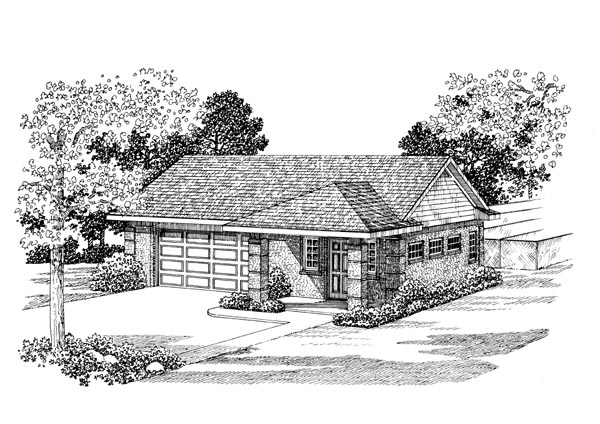 2 Car Garage Apartment Plan 91249 Front Elevation