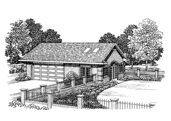 2 Car Garage Apartment Plan 91253 Front Elevation