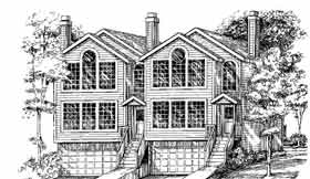 Multi-Family Plan 91323 with 6 Beds, 6 Baths, 4 Car Garage Elevation