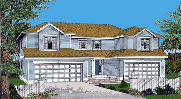 Traditional House Plan 91600 with 3 Beds, 3 Baths, 2 Car Garage Elevation