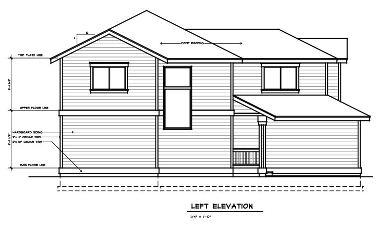 Traditional House Plan 91603 with 3 Beds, 3 Baths, 2 Car Garage Picture 1