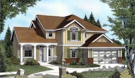 Country, Craftsman, Traditional House Plan 91630 with 3 Beds, 3 Baths, 2 Car Garage Front Elevation